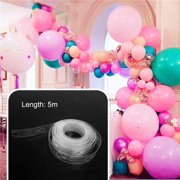 Iuhan 5m Durable Plastic Transparent Balloon Chain Tape Arch Connect Strip for Wedding Birthday Party Decor