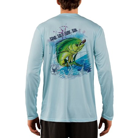 Seagrass Apparel - Dorado Men's UPF 50+ UV/Sun Protection Long Sleeve T-Shirt
