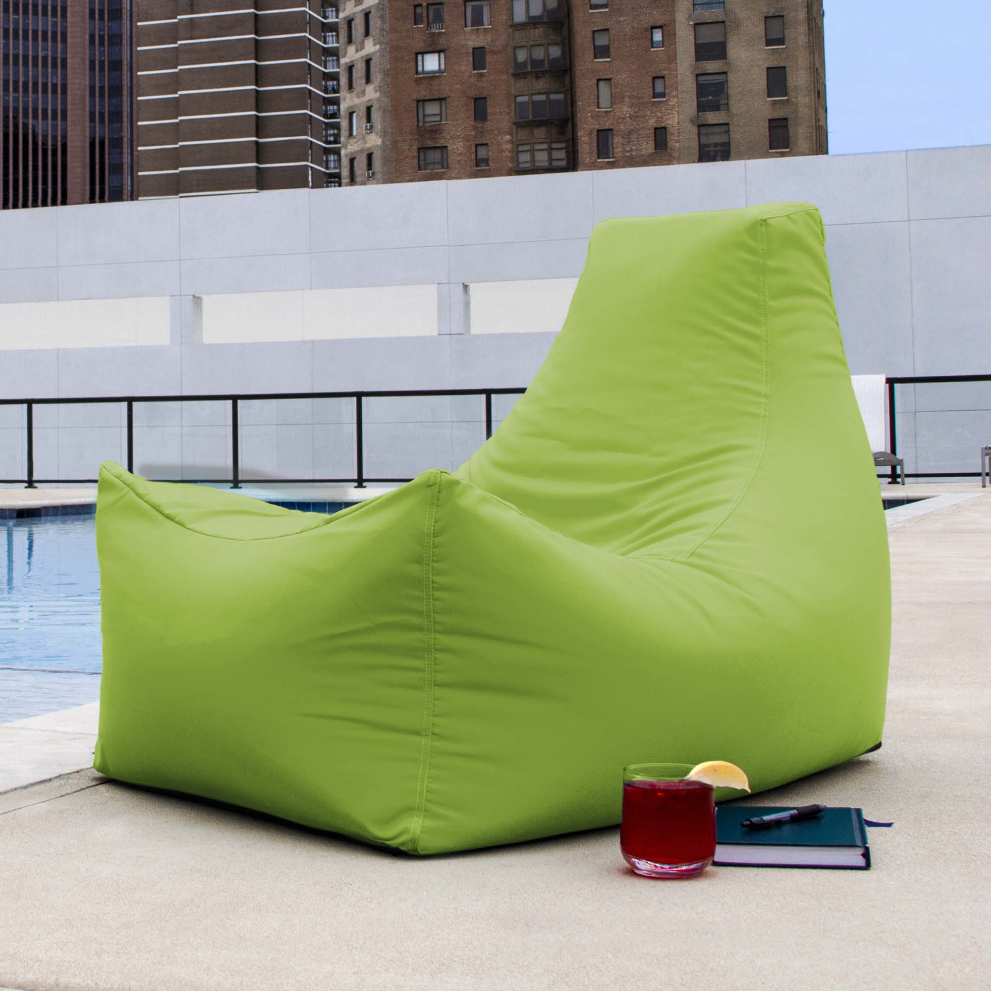 Excellent Jaxx Juniper Outdoor Bean Bag Lounge Chair Lime Cjindustries Chair Design For Home Cjindustriesco