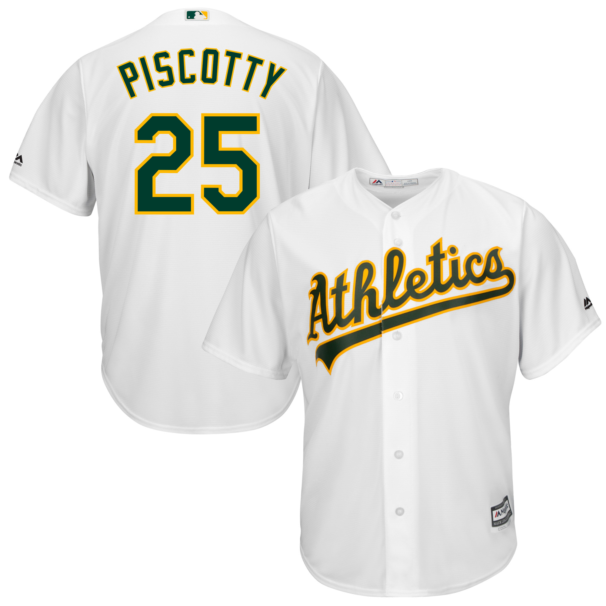 Stephen Piscotty Oakland Athletics Majestic Cool Base Player Replica Jersey - White