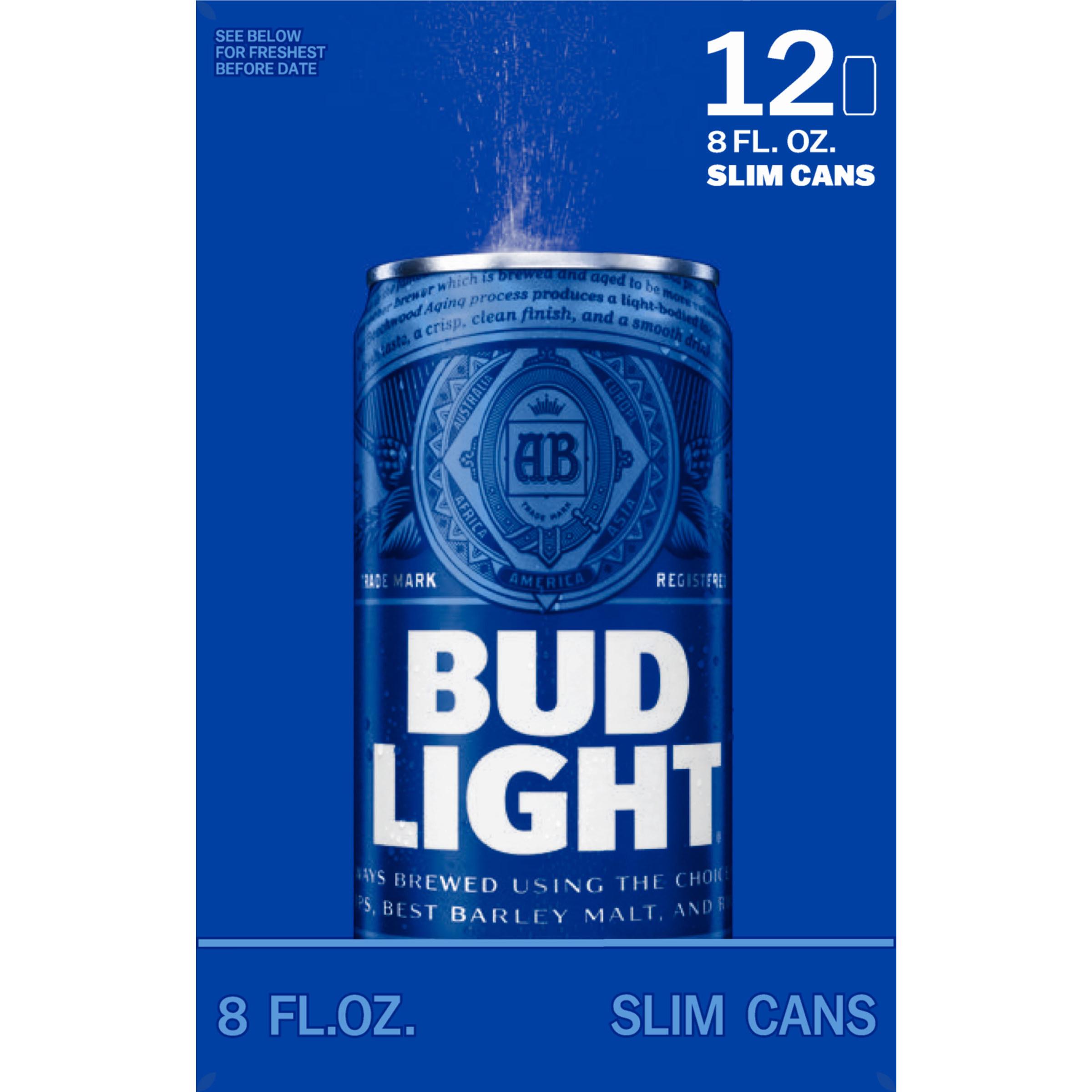 bud light beer 12 8 fl oz cans walmart com