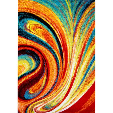 Home Dynamix Splash Collection 211 Multi Colored Swirls 19 6  X 31 5  Area Rug