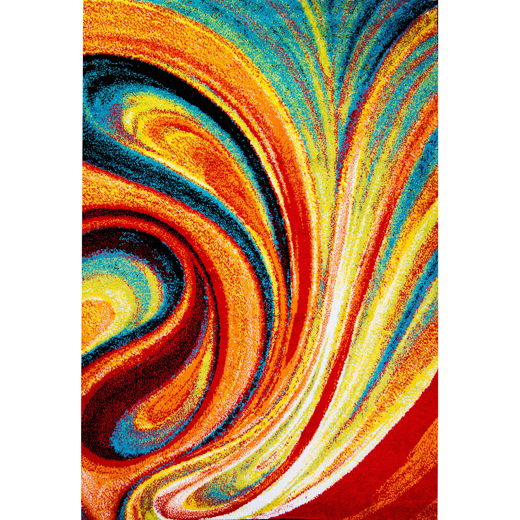 "Home Dynamix Splash Collection 211 Multi-Colored Swirls 19.6"" x 31.5"" Area Rug"