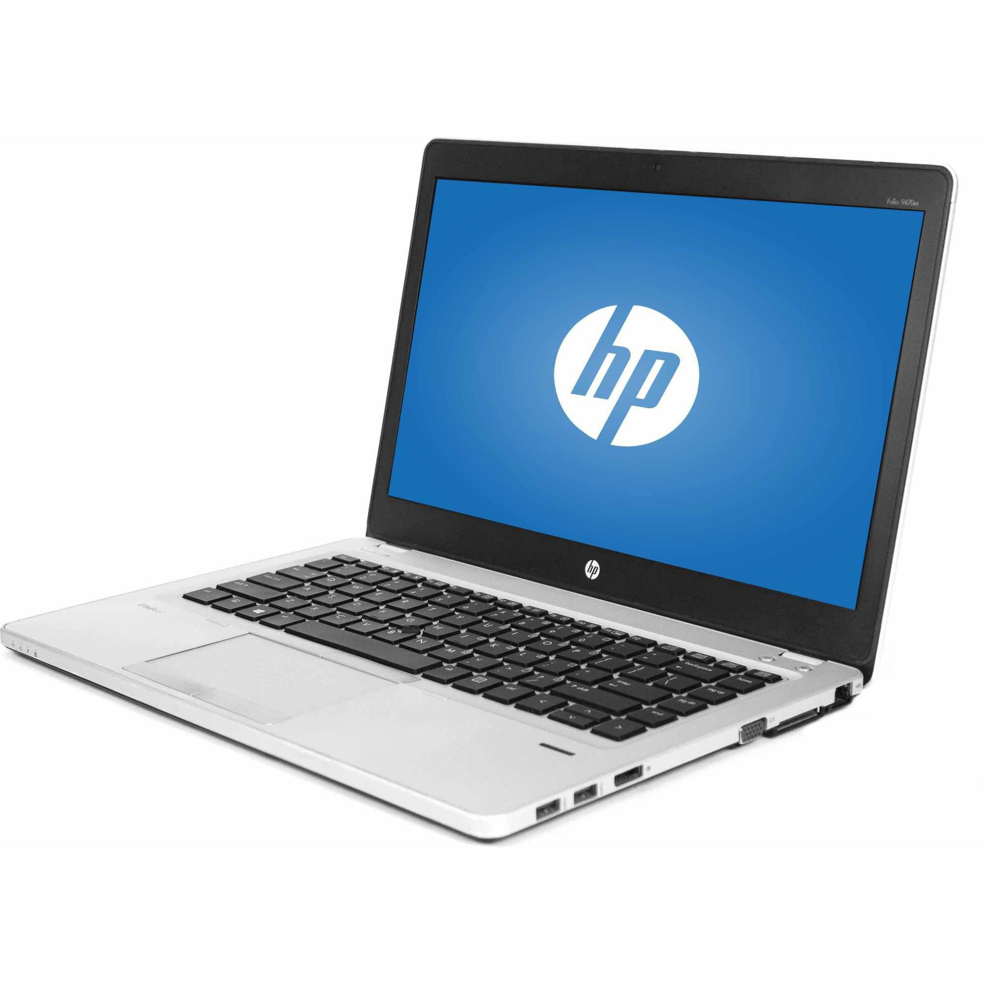 "Refurbished HP 14"" Folio EliteBook 9470M Laptop PC with Intel Core i7-3687"