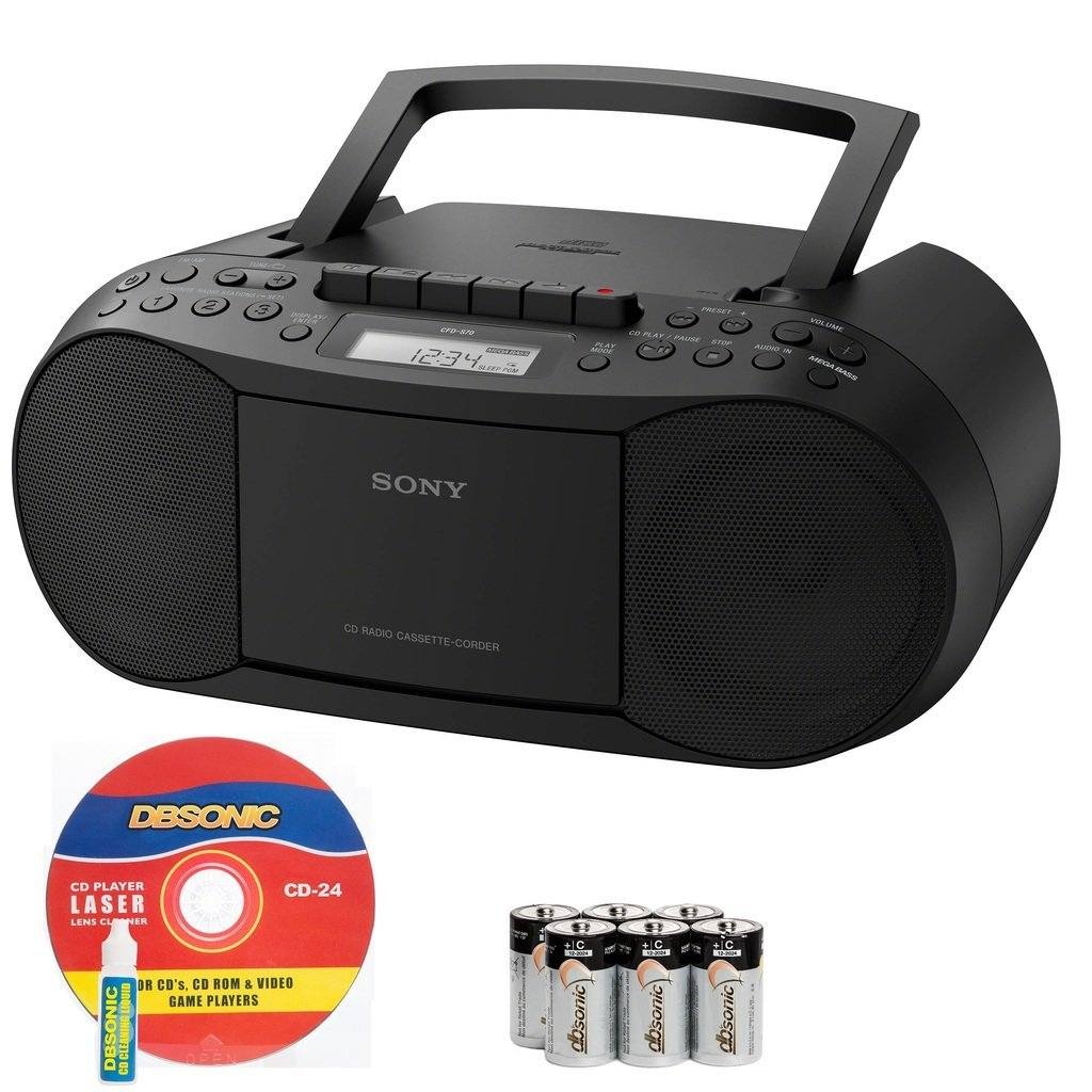 Sony Portable Stereo Boombox with MP3 CD Player, AM FM Radio, Cassette Recorder, Headphone & Auxiliary Jack,... by Sony