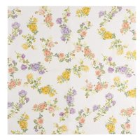 Floral Paper Napkins - 100-Pack Disposable Tea Party Napkins, Weddings, Bridal Shower Party Supplies, 2-Ply, Vintage Roses, Flower Decoupage, Luncheon Size Folded 6.5 x 6.5 Inches
