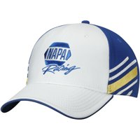 Chase Elliott NAPA Sponsor Stripe Adjustable Hat - White/Royal - OSFA