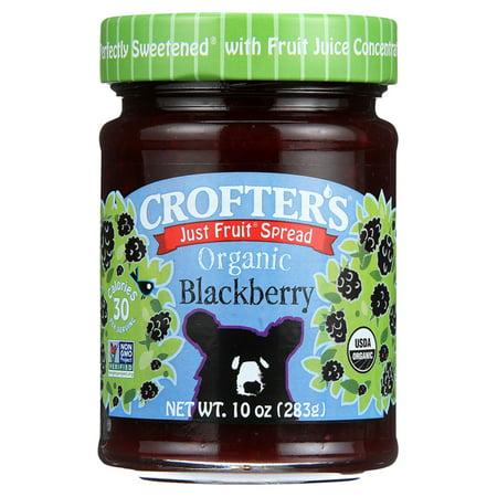 Crofters Just Fruit Spread   Blackberry 10 Oz Jars   Pack Of 3