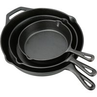 Ozark Trail 3 Piece Cast Iron Skillet Set