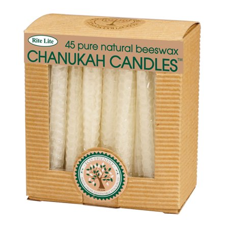Club Pack of 45 White Eco-Friendly Natural Beeswax Chanukah Menorah Candles 4
