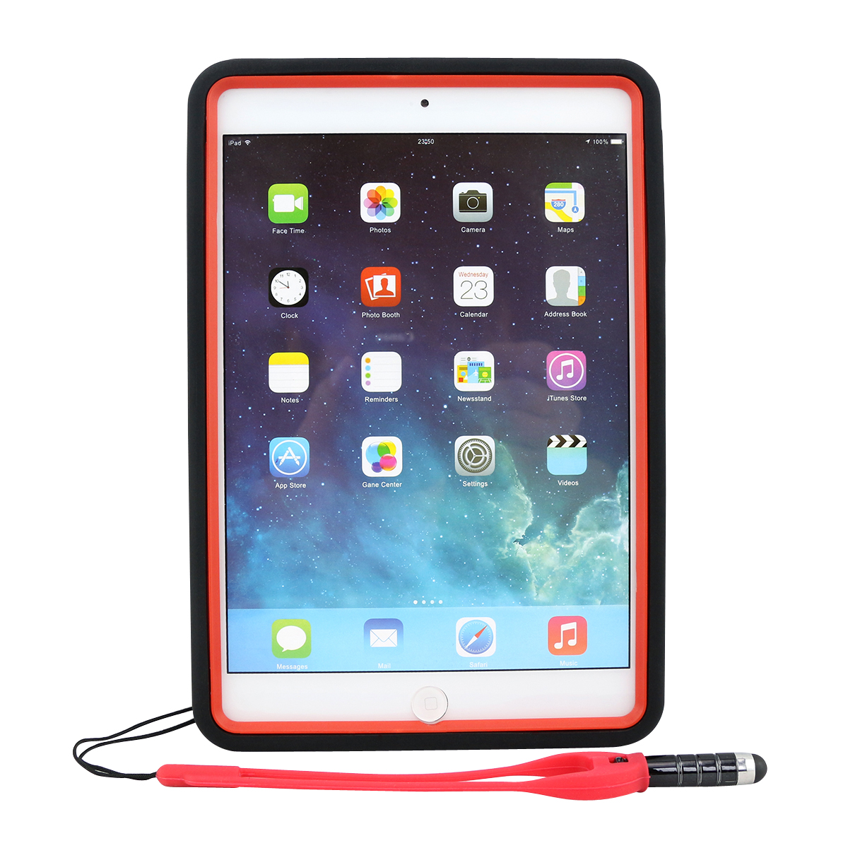 Coastacloud White Newly Style Soft Anti-Shock Shockproof Protective Back Case Holder Stand For Apple iPad Mini 2 with Retina Display / iPad Mini 3 - Free Screen Protector and Stylus