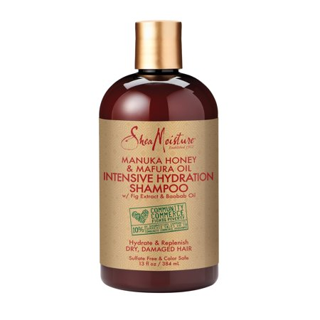 Manuka Honey & Mafura Oil Intensive Hydration Shampoo - Replenishes Dry, Damaged Natural Hair - Sulfate-Free with Natural & Organic Ingredients - Infuses Moisture into Curly, Coily Hair (13 - Intensive Moisturizing Shampoo