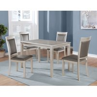 Roundhill Avignor 5-Piece Contemporary Simplicity Dining Set with 4 Chairs