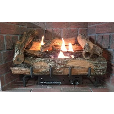 """Low Country Timber 24"""" Vent-Free Log Set with Millivolt Control - LP"""
