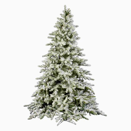 6' Flocked Artificial Christmas Tree Unlit - 6ft Fake Christmas Pine Tree  with Fake Snow 871 Tips Green and White 6 Foot Christmas Tree with Plastic  Base ... - 6' Flocked Artificial Christmas Tree Unlit - 6ft Fake Christmas Pine