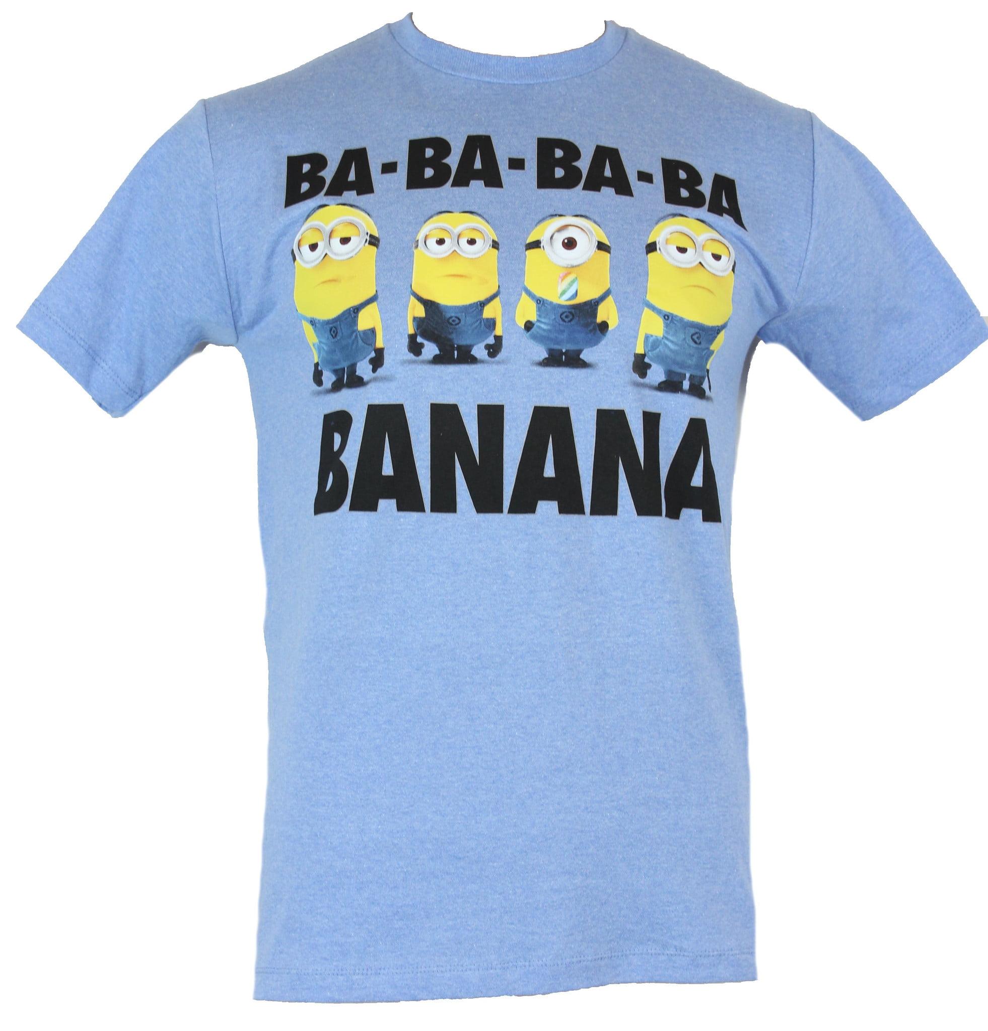S T-Shirt con motivo Keep Calm and Eat a Banana tratto da Cattivissimo Me- Motivo di Kevin Blu Minions