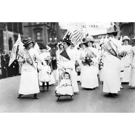The New York City Halloween Parade (WomenS Suffrage 1912 Nan American WomenS Suffrage Parade In New York City 6 May 1912 Rolled Canvas Art -  (18 x)