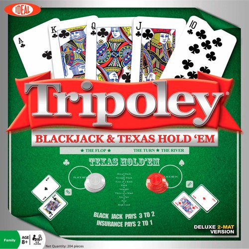 Ideal Tripoley Black Jack and Texas Hold'em Card Game