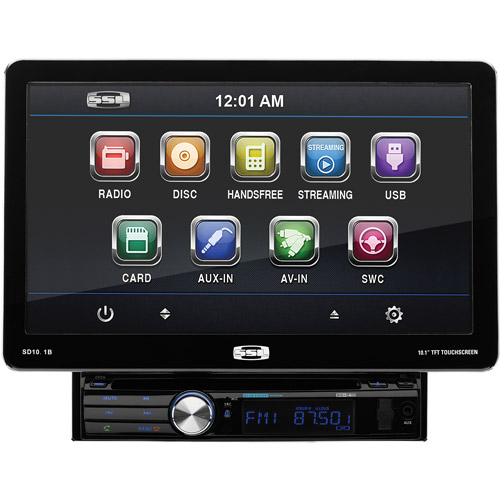 "Sound Storm SD10.1B Single-DIN In-Dash DVD Receiver with 10.1"" Detachable Touchscreen Monitor and Bluetooth"