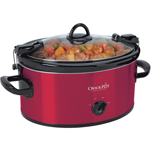 Crock-Pot 6-Quart Cook & Carry Manual Slow Cooker, SCCPVL600-R