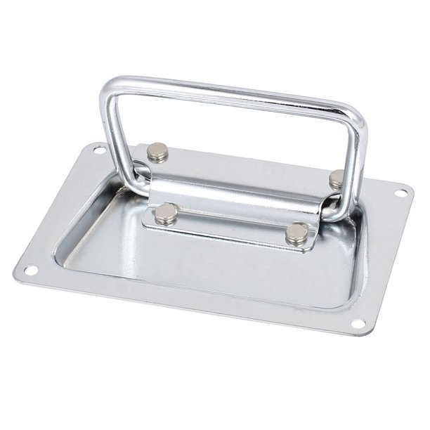 Toolbox Aluminum Box Case Metal Rectangular Recessed Pull Handle 120mmx70mm - Walmart.com - Walmart.com