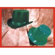 Hat - Top Hat, Plastic - Green