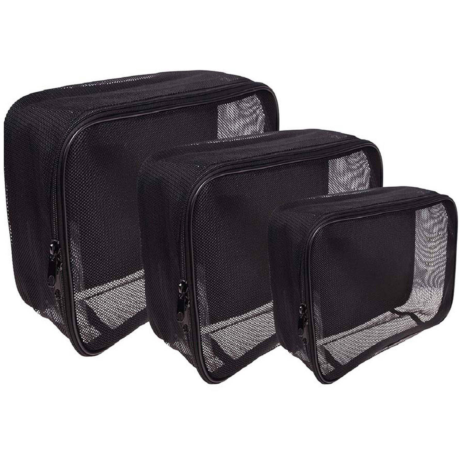 SHANY Assorted Size Cosmetics Travel Bags Set, 3 pc
