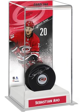 Sebastian Aho Carolina Hurricanes Deluxe Tall Hockey Puck Case - Fanatics Authentic Certified