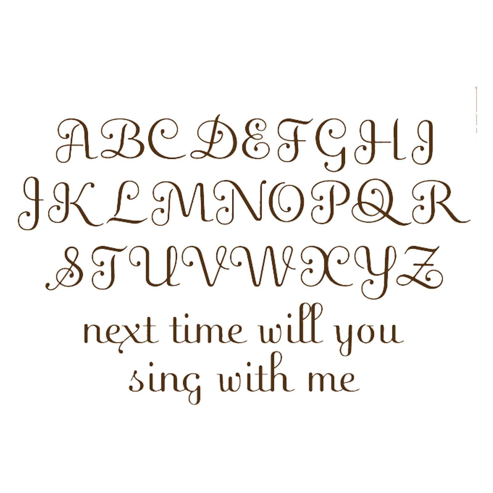 WallPops Script Alphabet Decal Set, Espresso by Generic