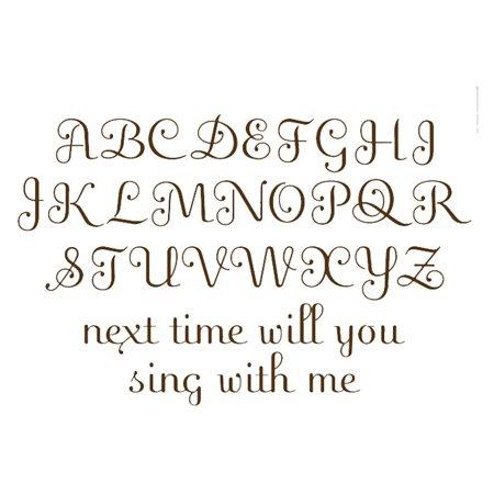 Wallpops Script Alphabet Decal Set  Espresso