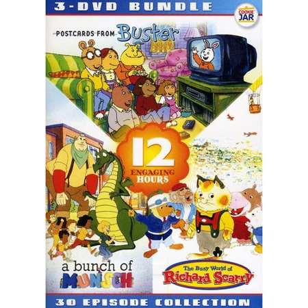 Edutainment Bundle: The Busy World Of Richard Scarry / A Bunch Of Munsch / Postcards From Buster