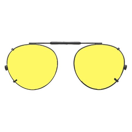 29ba3826060 Shade Control - Visionaries Polarized Clip on Sunglasses - Round - Gun Frame  - 47 x 42 Eye - Walmart.com