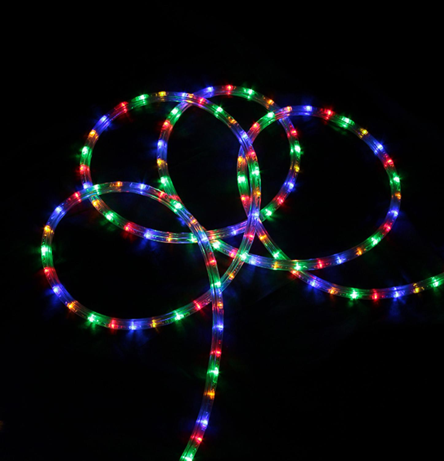 Holiday time 196 led green rope light 240 count walmart mozeypictures Images