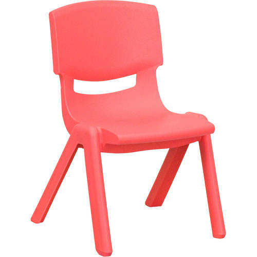Flash Furniture Plastic Stackable School Chairs, 10.5'' Seat Height, set of 4, Multiple Colors