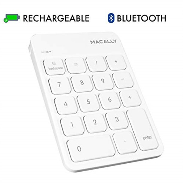 Macally Wireless Bluetooth Numeric Keypad Keyboard for