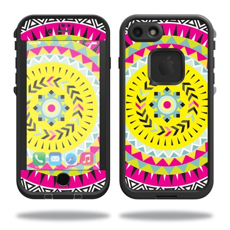 MightySkins Protective Vinyl Skin Decal for Lifeproof iPhone 7 Case fre Case wrap cover sticker skins Pink Aztec