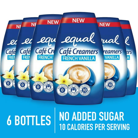 (6 Pack) Equal Cafe Creamers French Vanilla, Low-Calorie Coffee Creamer, 1.62 Fl (Fenton Glass Creamer)