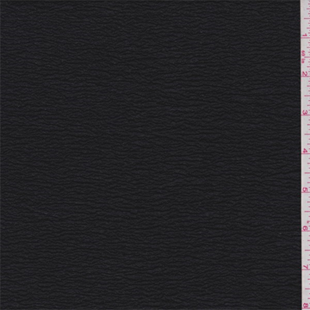 Black Shimmer Crinkled Crepe, Fabric Sold By the Yard