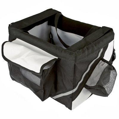 Zimtown Pet Cat Dog Bike Basket Nylon Bag Safety Belt Front Bicycle Carrier 6-10kg Black/Brown