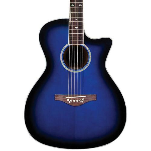Daisy Rock Wildwood Acoustic Electric Royal Blue Burst