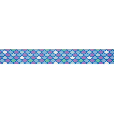 Country Brook Design® 7/8 Inch Mermaid Scales Grosgrain Ribbon, 5 Yards ()