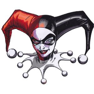 """Harley Quinn Headshot - DC Comics Artwork Embroidered Iron On Patches, 5.5"""" x 7"""""""