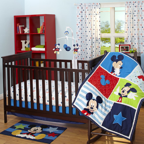 Disney Baby Mickey Mouse 3 Piece Crib Bedding Set