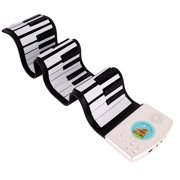 BAGGUCOR 49 Keys Digital Electronic Roll Up Keyboard Piano Foldable Silicone Electric Keyboard Piano for kids child
