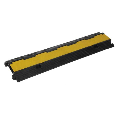 Acrylic Setting Rubber Channel - 2PCS 2 Channel PVC Rubber Sturdy Vehicle Electrical Wire Cable Cover Ramp Guard Warehouse Cord Protective Traffic Speed Bumps