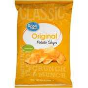Great Value Original Potato Chips, 8 oz