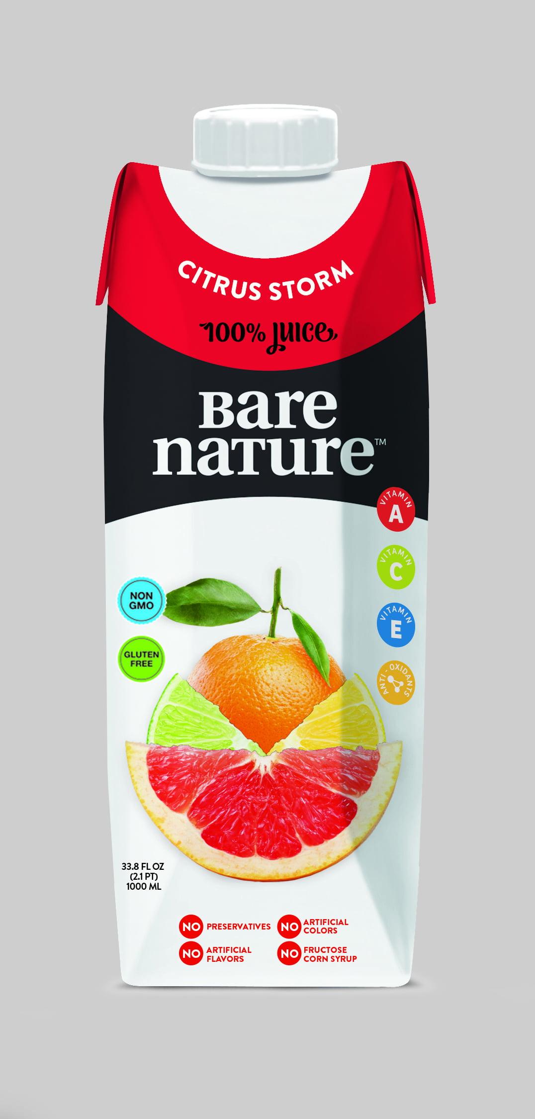 Bare Nature Juice Citrus Storm, 33.8 Fl. Oz. Tetra Pak (1L), 6 Ct by Vink and Beri, LLC
