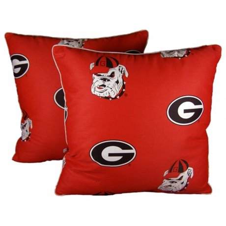 Decorative Pillows For College : College Covers GEODPPR Georgia 16 x 16 Decorative Pillow Set