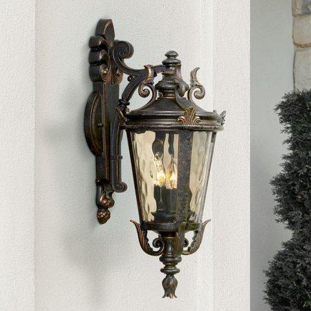"""John Timberland Casa Marseille™ 21 3/4"""" High Bronze Outdoor Wall Light"""