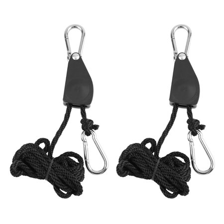 1 Pair 1/8 330 lbs Hangers Rope Ratchet 150Kg Load for Aquarium LED Plant Grow Tent Room Fan Carbon Filter Grow Light - image 3 of 6